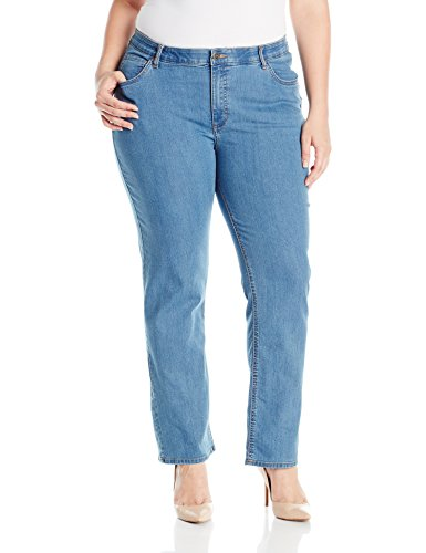 Riders by Lee Indigo Women's Plus-Size Slender Stretch Slim Straight Leg Jean, Sky Blue, 24W