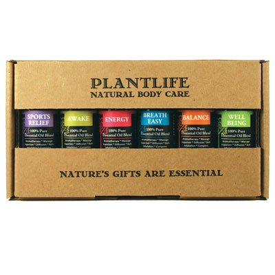 Be Well Essential Oil Gift Set - 6 Essential Oil Blends For Wellness by Plantlife