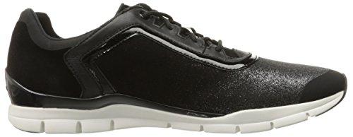 Mujer de Caminar Wsukie15 Zapatos Negro para Geox qEwOX4f