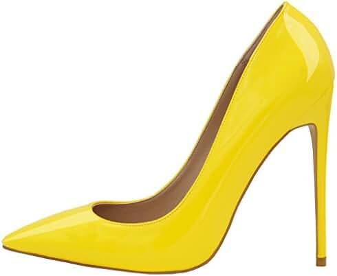 Lovirs Womens Pointed Toe High Heel Slip On Stiletto Pumps Large Size Wedding Party Basic Shoes