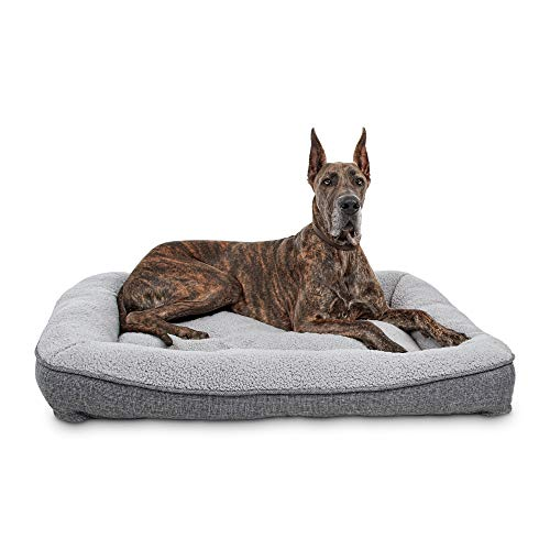 Harmony Cozy Cottage Gray Lounger Dog Bed, 48