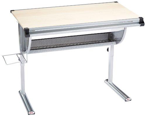 Links 50600450 Schreibtisch Tüv- und GS-geprüft, Kinderschreibtisch Schülerschreibtisch höhen- und neigungsverstellbar, ahorn