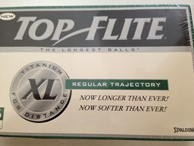 Spalding Top Flite XL Titanium Distance Regular Trajectory - 15 Golf Balls