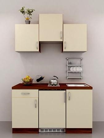 Sehr Gut Single Küche 150 cm Vanille mit Geräten - Sienna: Amazon.de: Küche  KD19