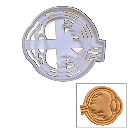 Anatomical Eyeball cookie cutter (Side View), 1 pc, Ideal for a Halloween party or for an anatomy lecture -