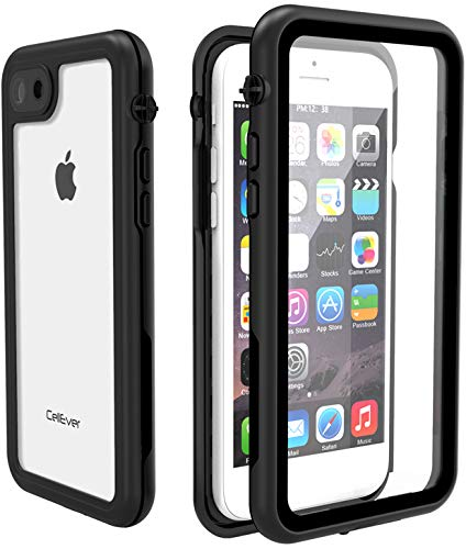 uk availability c282f 2e928 CellEver iPhone 7/8 Waterproof Case, Underwater Fully Sealed Clear Cover  Snowproof Shockproof Dirtproof IP68 Certified Waterproof Case Fits Apple ...