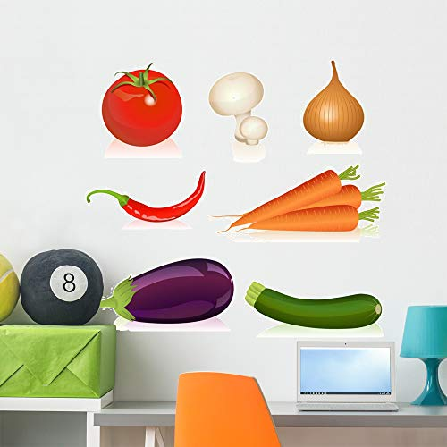 Wallmonkeys Set Vegetables Wall Mural Peel and Stick Vinyl Graphic (36 in H x 36 in W) WM525658