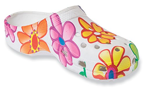 The Paragon Women's Clogs - Floral, Non Slip, Soft Shoes 8 B(M) US