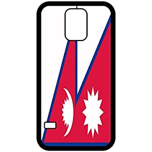 Nepal Flag Black Samsung Galaxy S5 Cell Phone Case - Cover