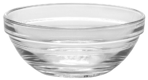 Duralex - Lys Stackable Clear Bowl 10,5 cm (4 1/8 in) Set Of 6 by Duralex