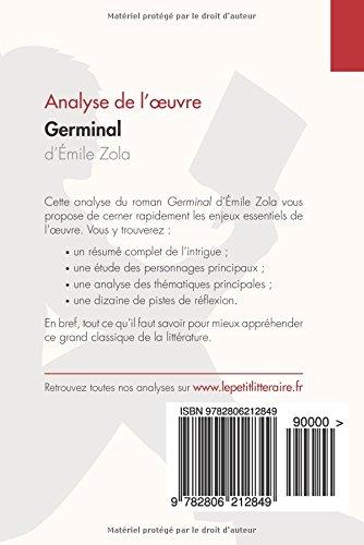amazon fr germinal d Émile zola analyse de l oeuvre résumé