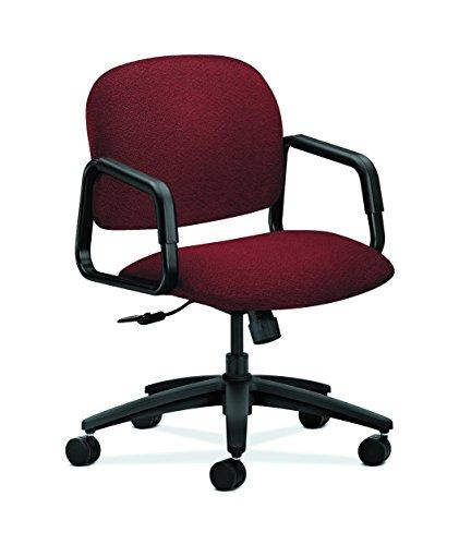 (HON 4002AB62T Solutions Seating Mid-Back Swivel/Tilt Chair, Olefin, Burgundy)