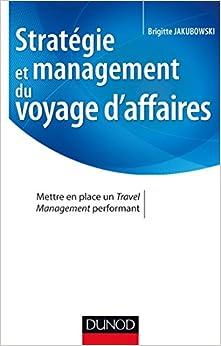 Book stratégie et management du voyage d'affaires