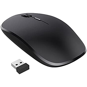 Nulaxy 2.4G Ergonomic Wireless Mouse, Portable Mobile Computer Mouse Optical Mice with USB Receiver, 3 Adjustable DPI Levels, Best for Notebook, PC, Laptop, Computer, Macbook