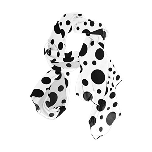 My Daily Women's Lightweight Funny Black And White Polka Dot Scarf (Black And White Polka Dot Winter Scarf)