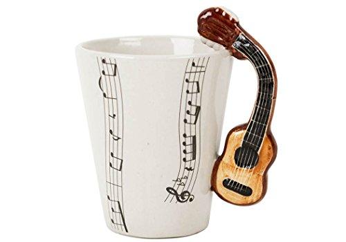 Acoustic Guitar Mug (Guitar 8oz Acoustic Handmade Ceramic Coffee Mug (10cm x 8cm))