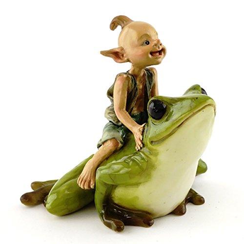 (Top Collection Miniature Garden Pixie Riding Frog)
