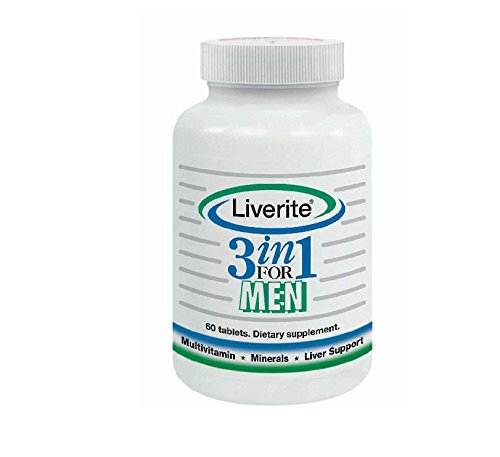 Liverite 3 in 1 Multivitamin, Liver Aid, Liver Support and Liver Cleanse Capsules for Men, 60 Count by Liverite (Image #1)'