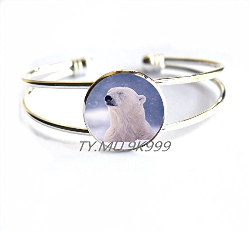 (Yao0dianxku Tribal bear Bracelet spirit guide Bracelet polar bear totem amulet teddy bear Bracelet wolf Bracelets white bear Bracelet polarbear Bracelet.Y152 (1))