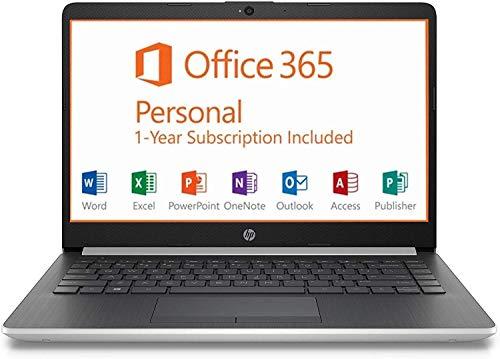 HP 14″ HD SVA BrightView Micro-Edge WLED-Backlit Laptop, Intel Celeron N4000 up to 2.6GHz, 4GB SDRAM, 64GB eMMC, USB 3.1 Type-C, HDMI, 802.11ac, BT, Webcam, Windows 10 S, 1 Year Microsoft Office 365