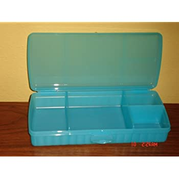 Amazon.com: Tupperware Lunch N Things Blue: Lunch Boxes