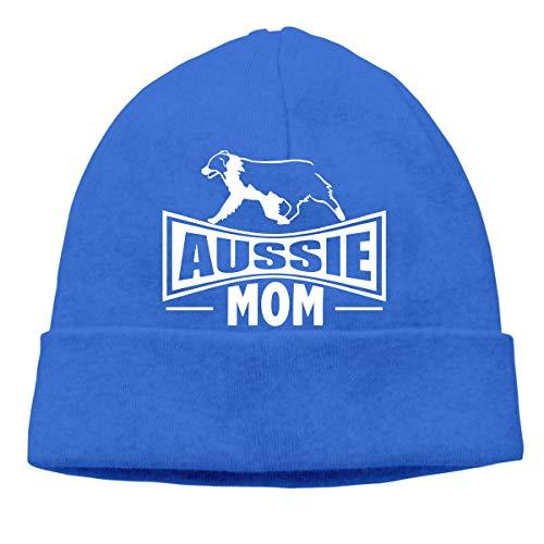 Adult Mens Womens Unisex Aussie Mom Australian Shepherd Dog Autumn Wool Cap ()