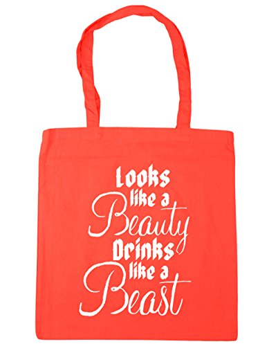 Shopping Beach 42cm like 10 a Tote Gym HippoWarehouse Coral drinks beast litres x38cm a beauty Bag like Looks 4XwqP1z