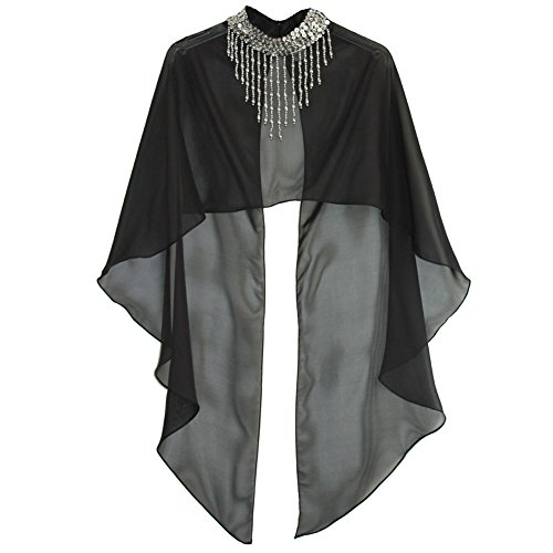 スパンコール ダンス 衣装 ポンチョ ケープ ショート丈 フリーサイズ