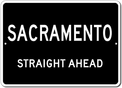 Custom Aluminum Sign - SACRAMENTO, KENTUCKY US City Straight Ahead Sign