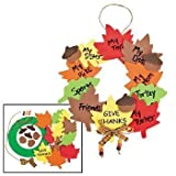 Wreath of Thanks Foam Craft Kit - Religious Crafts for Kids-makes 12 sets