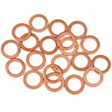 X AUTOHAUX 20pcs Copper Washer Flat Sealing Gasket Ring Spacer for Car 12 x 18 x 1.5mm