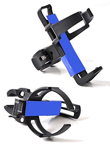 SportsMax Universal Adjustable Water Bottle Clip Cage, Rack Holder for MTB CR BMX Bicycle Bike (Black, ()