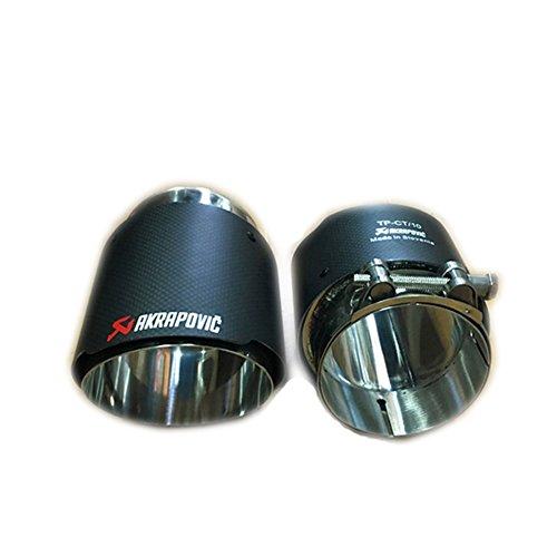 (Exhaust Tips for Jaguar F-PACE 3.0T Car Akrapovic Carbon Fiber Muffler Pipe Covers(1pair))