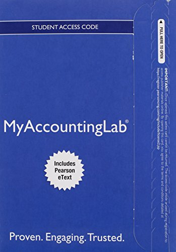 Mylab Accounting with Pearson Etext -- Access Card -- For Horngren's Financial & Managerial Accounting, the Manageri