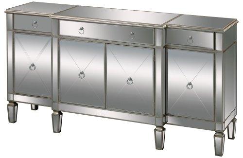 (Sterling 6043618 Bodrum Contemporary Medium Density Fiberboard Buffet Server, 38-Inch, Mirrored Glass )