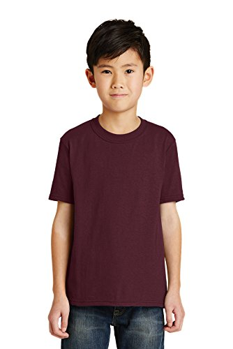 Port & Company RMK Youth Core Blend Tee (Pack of 72), Athletic Maroon, Medium ()