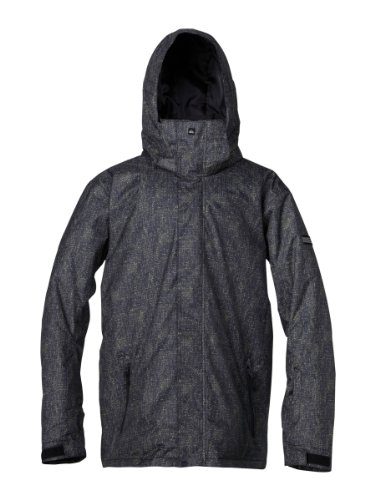Quiksilver Mens Mission Shell Jacket, Big Dither, X-Large