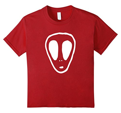 Kids UFO Alien Face Mystery Horror T-Shirt 8 Cranberry (Horror Tshirts)