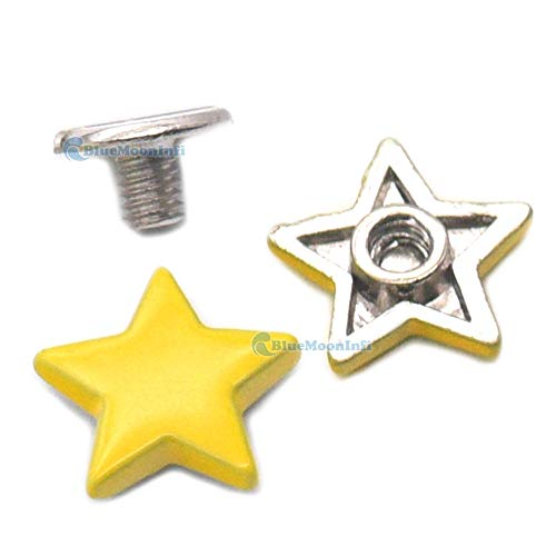 Leather Rivets Set 5/15/50/120 Sets Alloy Star Shape Rivet Stud Button Screw Bag Clothes Shoe Punk DIY Fittings Leather Craft by X-CRAFT (Image #5)