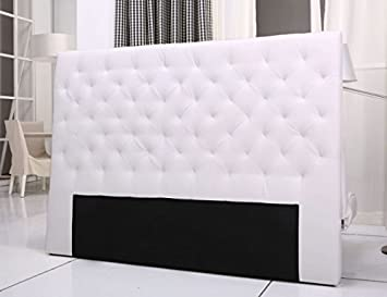 Tete De Lit Capitonnee King 160 180cm Simili Blanc Amazon