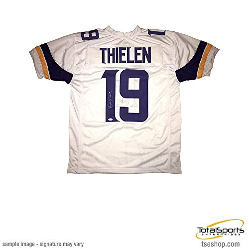 f6e5e7f08a1 Total Sports Enterprises Adam Thielen Signed Custom White Football Jersey
