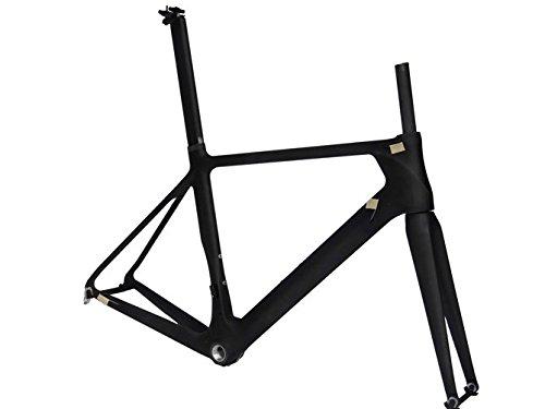 Flyxiiフルカーボン3 Kマットフレームセットbb30 : 54 cmフレームフォークロードバイク自転車シートポストクランプ   B01H2996XS