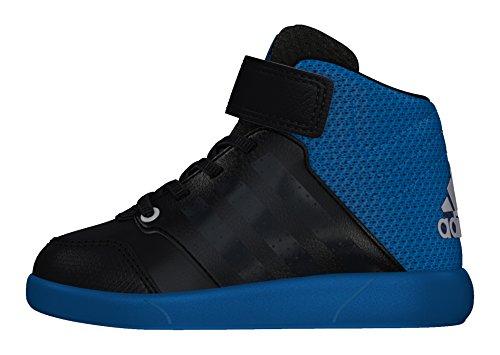 adidas Jan Bs 2 Mid I, Zapatos de Primeros Pasos para Bebés Negro (Negbas / Griosc / Azuuni)