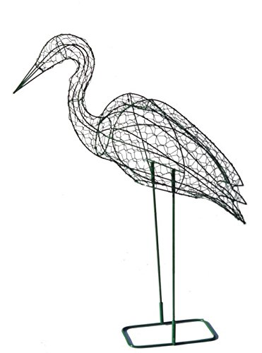 Stork 36 inches high Topiary Frame, Handmade Animal Decoration