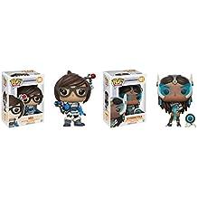 Funko POP Video Games Overwatch: Mei adn Symmetra Toy Action Figure - 2 POP BUNDLE