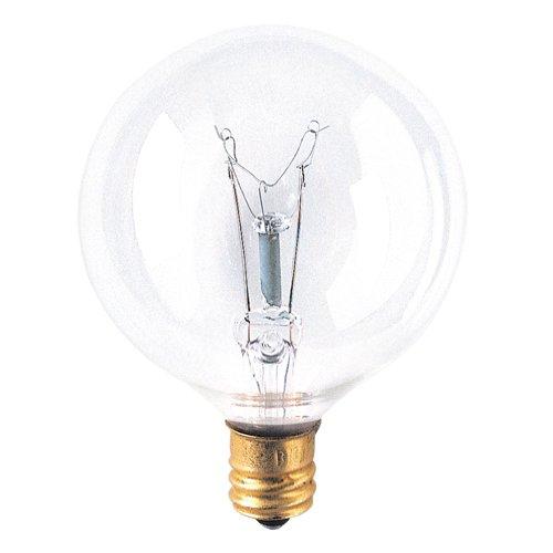 - Bulbrite 391140 40G16CL2 40-Watt Incandescent G16.5 Globe, Candelabra Base, Clear (Pack of 12)