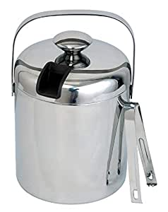 Steel Ice Double Wall Bucket With Lid and Tong