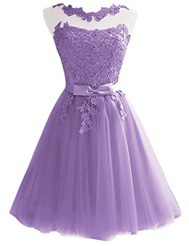Short Dress Homecoming Cocktail JAEDEN Sash Dress Lilac with Tulle Lace Party x0EA0XOw5q