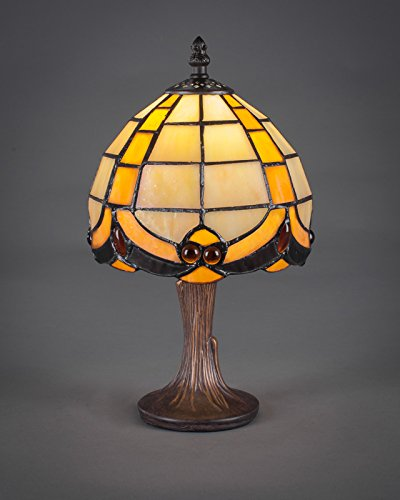 - Mini Table Lamp with Butterscotch Glass Shade