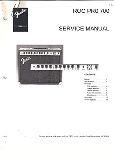 FENDER ROC PRO 700 Amp Amplifier Service Manual Repair Guide ... on